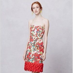 Peter Som strapless party dress.